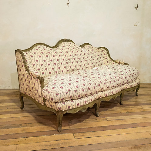 A Louis XV period Canapé à Oreilles Serpentine Shaped Sofa