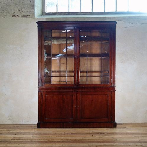 A Large Narrow Georgian Mahogany Glazed Bookcase
