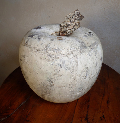 Large French Antique Decorative Apple Ornament