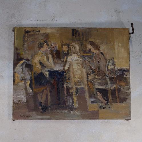 A 20th Century Oil On Canvas Roger De Coninck