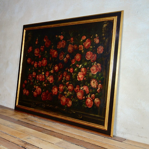 Large Studio of Miguel Canals Painting Roses