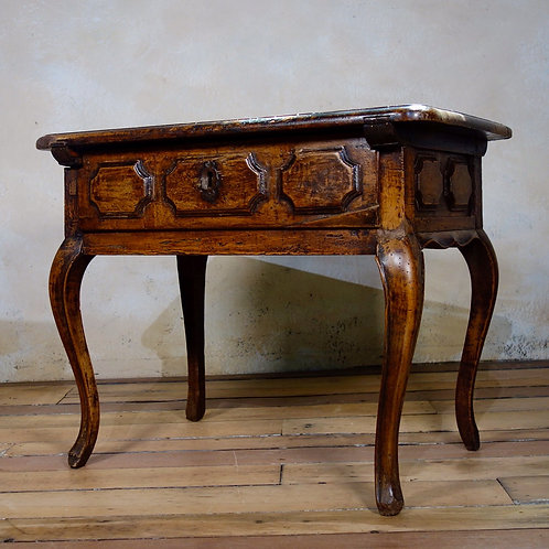 A Charming Small 19th Cent French Walnut Side Table