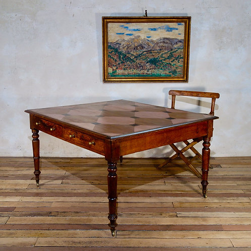 A Painted 19th Century Oak Partners Desk - Kitchen Table