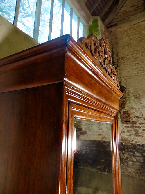 French Walnut Armoire Cupboard