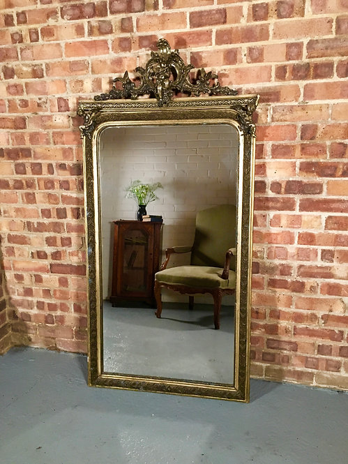 Large 19th Century French Gilt Overmantel