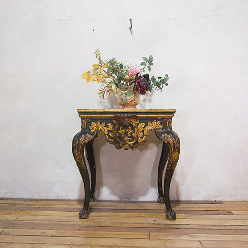 An Exceptional 18th Century Italian Baroque Console Table