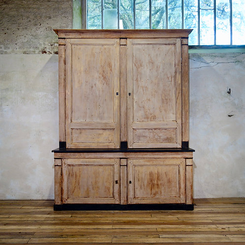 A Large 19th Century French Original Painted Cabinet - Bookcase