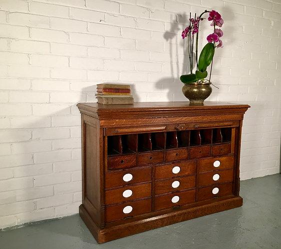 Amberg Oak Tambour Filing Cabinet