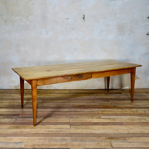 A 19th Century French Fruitwood Farmhouse Table