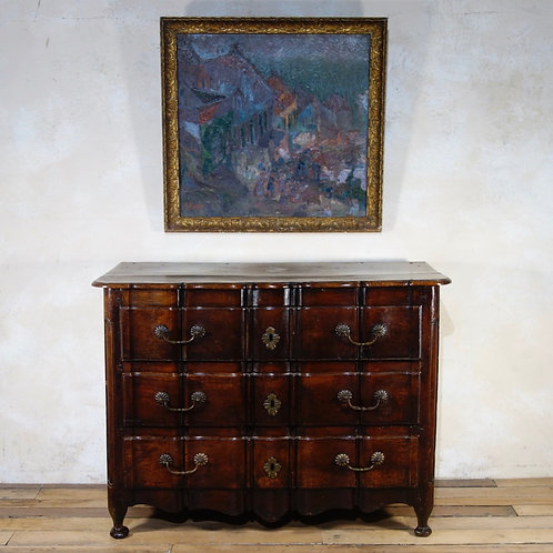 An 18th Cent Continental Walnut Commode