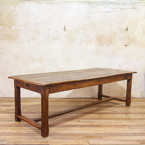 An Early 19th Century Oak French Farmhouse Refectory Table
