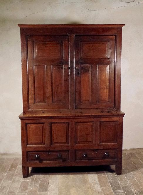 18th century Oak Press Cupboard