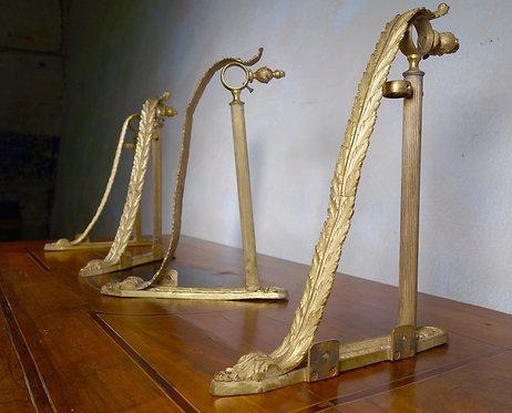 Four 19th Century Italian Ormolu Curtain Brackets