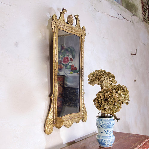 A Late 19th Century George II Style Giltwood Mirror