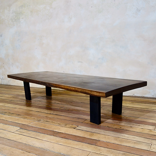 A Large Scale 19th Century Hardwood Coffee - Low Table