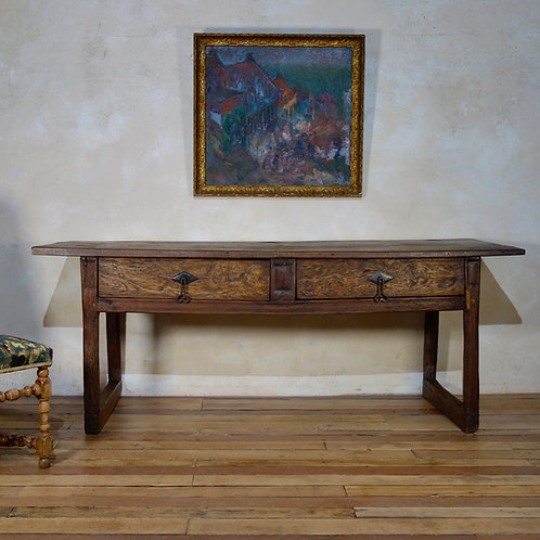 A Large 17th Century Spanish Chestnut Serving Iberian Table