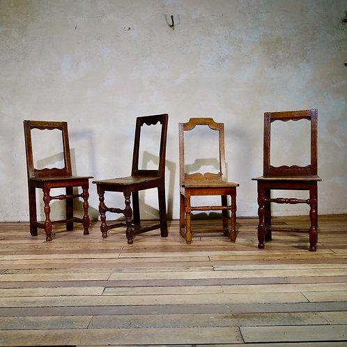 Four 18th Century Backstools - Lorraine Chairs