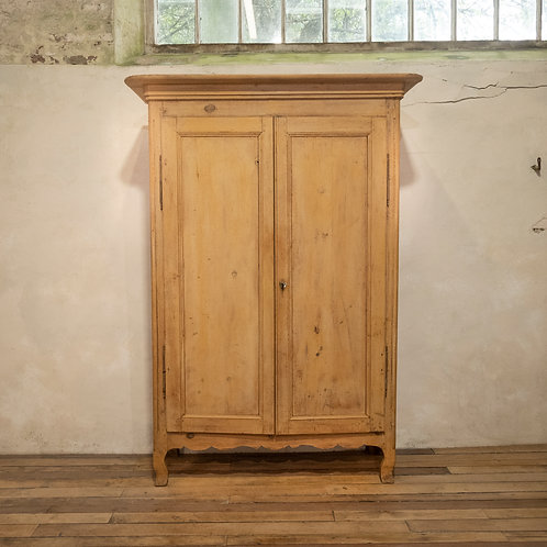 An Early 19th Century French Original Painted Provincial Armoire