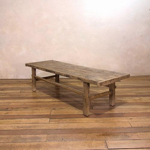 A Rectangular ElmPrimitive ChineseWabi-Sabi Coffee Table