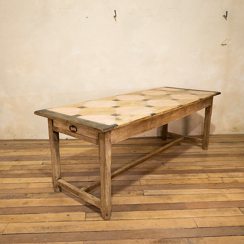 An Early 20th century French Painted Refectory Farmhouse Table