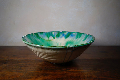 A Large Continental Earthenware Bowl