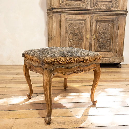 An Elegant Small French Louis XV Footstool