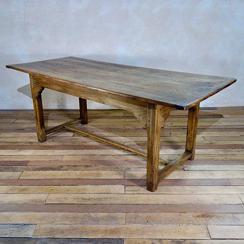 An Early 19th Century French Elm Farmhouse Table