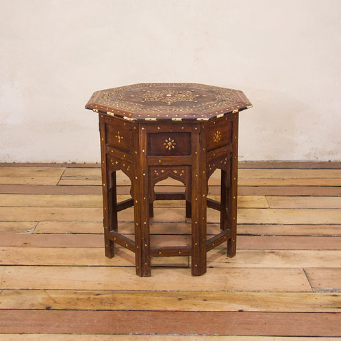 A Late 19th Century Indian Hoshiarpur Occasional Octagonal Table