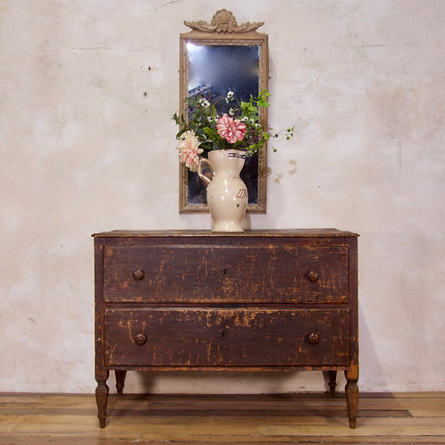 An 18th Century North Italian Original Red Painted Commode