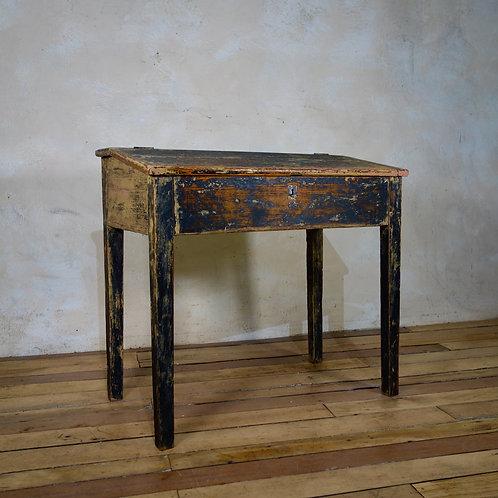 A late 18th century French primitive slanted school desk