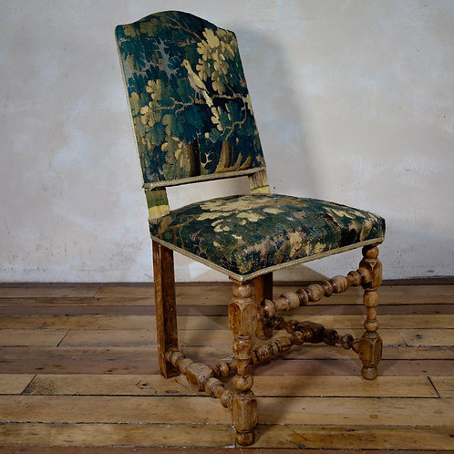 A Baroque Flemish 18th Century Tapestry Side Chair
