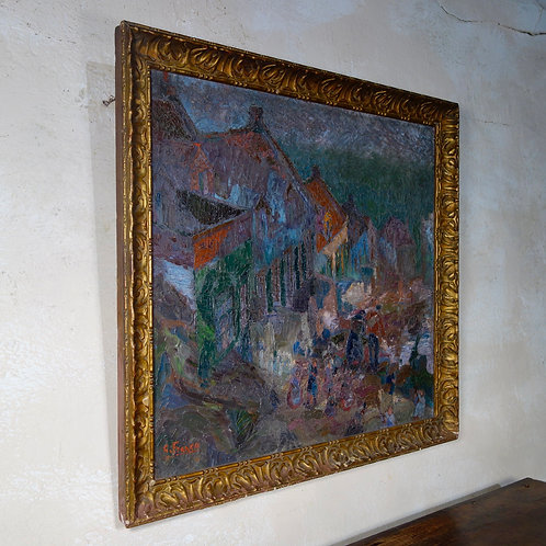 A Large 20th Century Oil On Canvas Landscape Painting