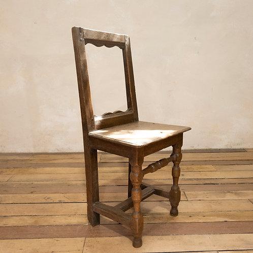 A Small Oak 18th Century French Backstool - Lorraine Chair