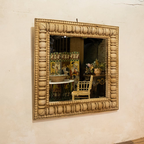 A Large Square Late 19th Century French Wall - Overmantle Mirror