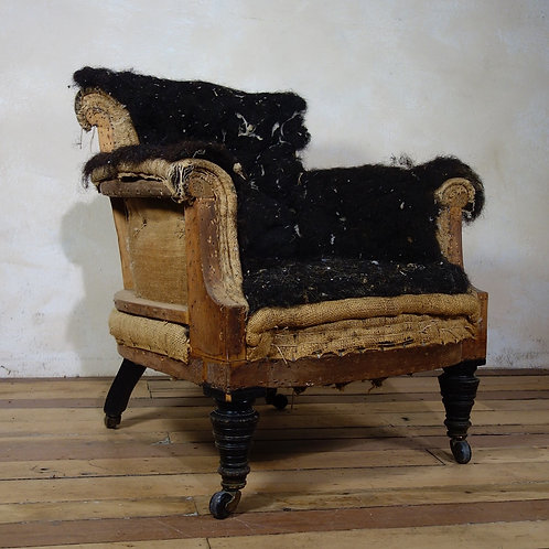 Antique Victorian Nursing Armchair
