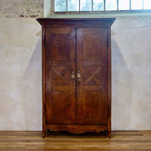 A Charming Late 18th Century French Provincial Oak Armoire