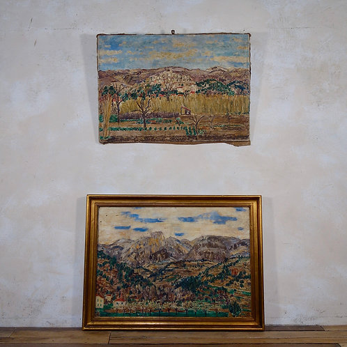 A Pair of Roger-Maurice Grillon Italian Oil On Canvas Landscapes