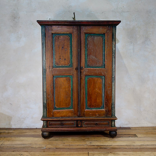 A Small 19th Century Folk Art Painted Cupboard