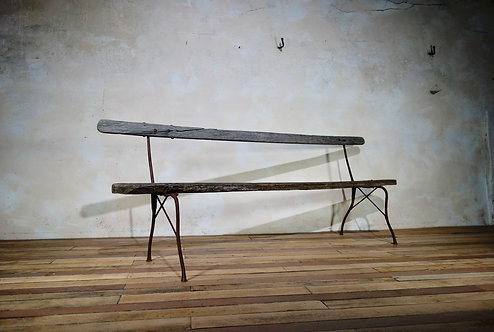 Extremely Long Antique French Cast Iron Garden Bench