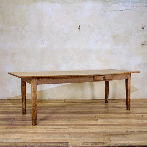 A 19th Century French Elm & Oak Farmhouse Table