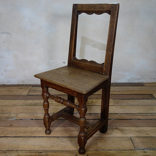 A Small Oak 18th Century French Backstool - Lorraine Chair