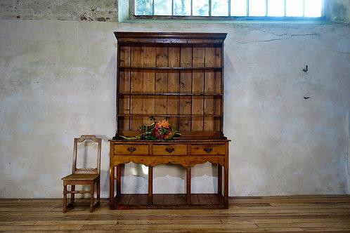 18th Century George III Fruitwood Farmhouse Pot Board Kitchen Dresser