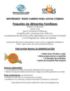 Food Distribution Flyer Paterson SPANISH