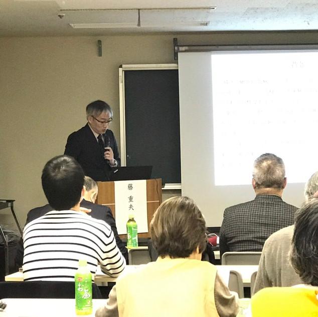 最後は藤先生のご講演でした