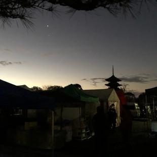 夜明けの東寺