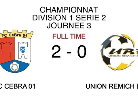 Championnat J3 : CeBra 2 - 0 URB