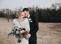 Wedding photography in McKinney, Texas. Bride and groom getting in wedding portraits at golden hour.