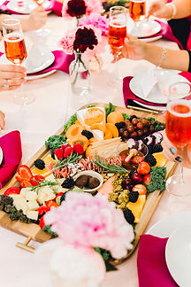 Wedding and Event Planning in Dallas, Texas. Charcuterie board and champagne in Dallas, Texas.