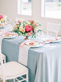 Table decor and compote flower arrangements for wedding reception in Dallas, Texas