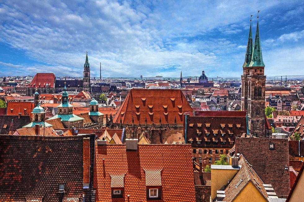 Nuremberg, Germany, old town houses, cit